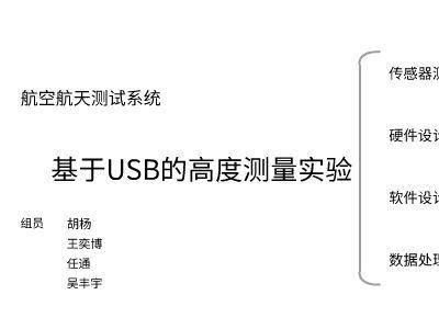 基于USB的高度测量系统 幻灯片制作软件