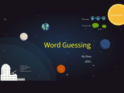 word guessing (3) 幻灯片制作软件
