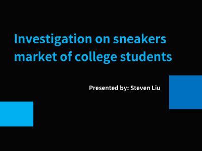 sneakers research bySteven Liu