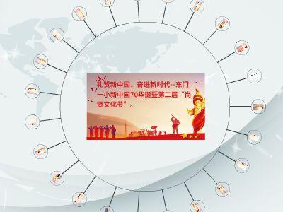 国旗华表十一国庆节PPT模板2 幻灯片制作软件