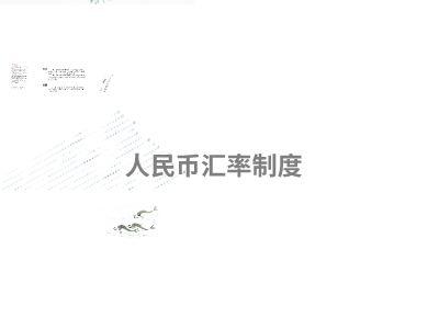 人民币汇率制度 幻灯片制作软件