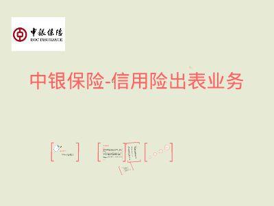 中银保险-信用险出表业务 幻灯片制作软件