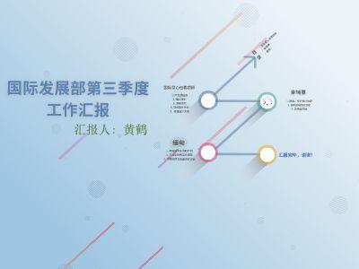 国际部第三季度工作汇报黄鹤 幻灯片制作软件