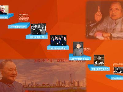 邓小平理论形成的过程 PPT制作软件